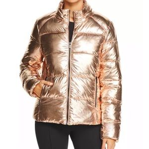 Andrew Marc | Gold Metallic Down Puffer Coat